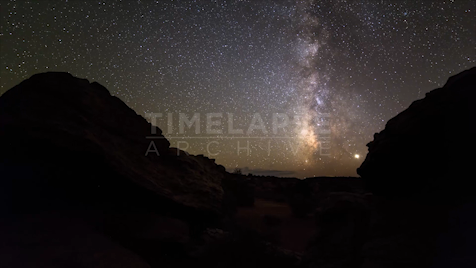 Time-lapse Utah: Milky Way Pan Right