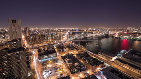 New York: East River At Night