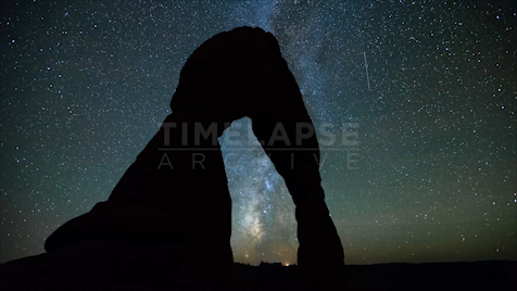 Time-lapse Utah: Delicate Arch Night Sky