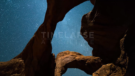 Time-lapse Utah: Double O Arch Jib Shot