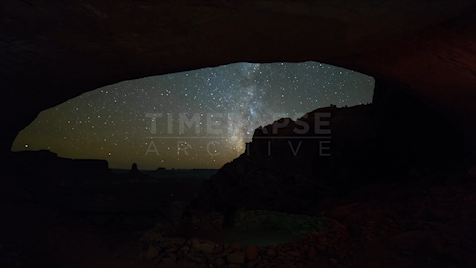 Time-lapse Utah: False Kiva Astrolapse
