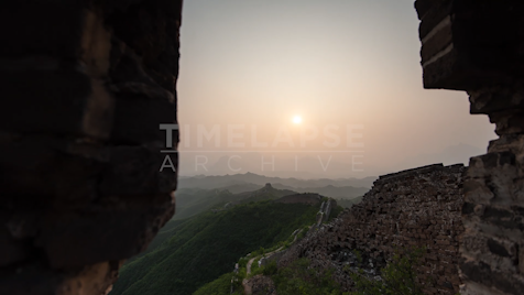 Time-Lapse China: The Great Wall Sunset