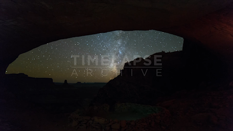 Time-lapse Utah: False Kiva Day To Night
