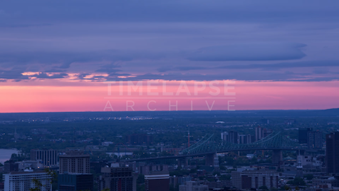 Time-lapse Montreal: Jacques Cartier Bridge & Pink Sky