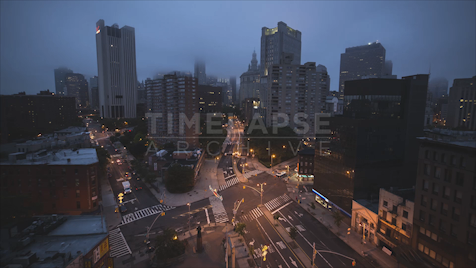 Time-lapse New York: FiDi Fog