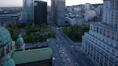 Time-lapse Montreal: René Lévesque Blvd From Above