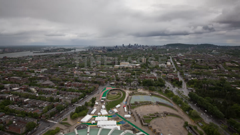 Time-lapse Montreal: Montreal Skyline From Stadium