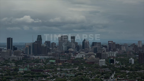 Time-lapse Montreal: Overcast Skyline