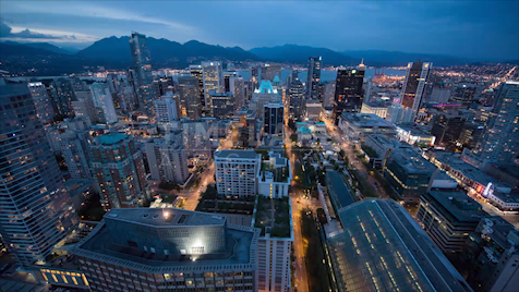 Time-lapse Vancouver: Day To Night
