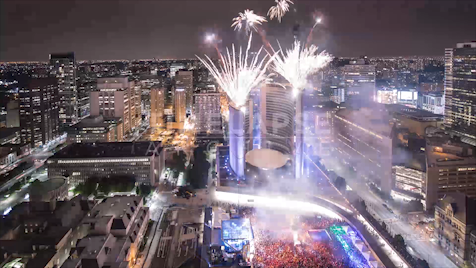 Time-lapse Toronto: City Hall Pride Fireworks