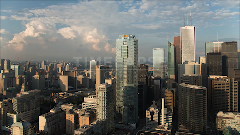 Time-lapse Toronto: Cityscape Boiling Clouds