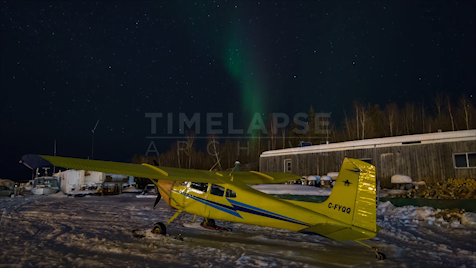 Time-Lapse Northwest Territories: Aurora Airplane