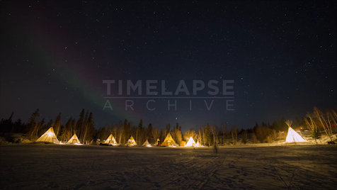 Time-lapse Northwest Territories: Aurora Tipi Village
