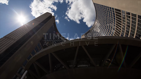 Time-lapse Toronto: City Hall From Below