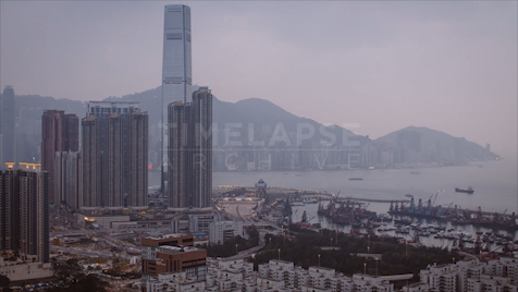 Time-lapse Hong Kong: ICC At Dusk