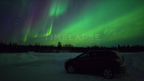 Time-lapse Northwest Territories: Aurora Car
