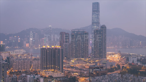 Time-lapse Hong Kong: ICC Day to NIght