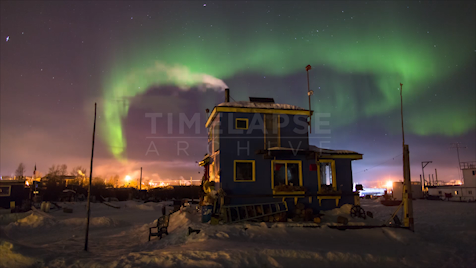 Time-lapse Northwest Territories: Aurora Blue House