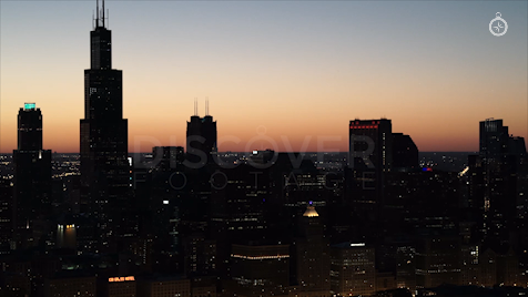 Chicago: Aerial Sunset 11