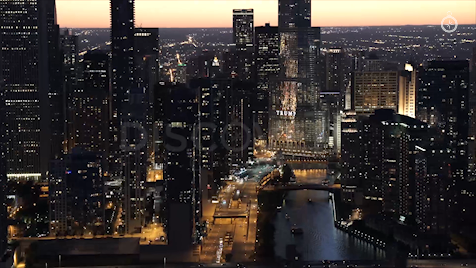 Chicago: Aerial Sunset 12