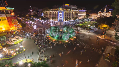 Time-lapse Ho Chi Minh City: Lunar New Year 2