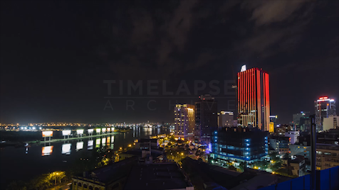 Time-lapse Ho Chi Minh City: Saigon River At Night