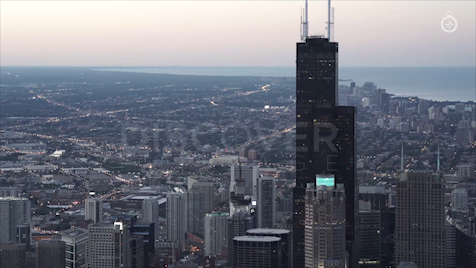 Chicago: Aerial Sunset 14