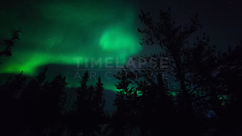 Time-lapse Northwest Territories: Aurora Pan Left