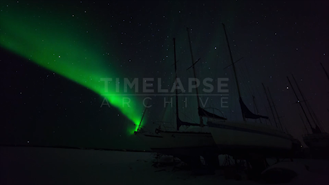 Time-lapse Northwest Territories: Aurora Boats