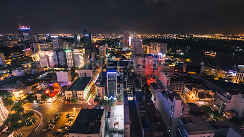 Time-lapse Ho Chi Minh City: Cityscape Night