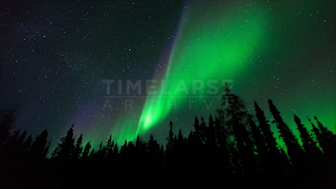 Northwest Territories: Aurora Green Purple
