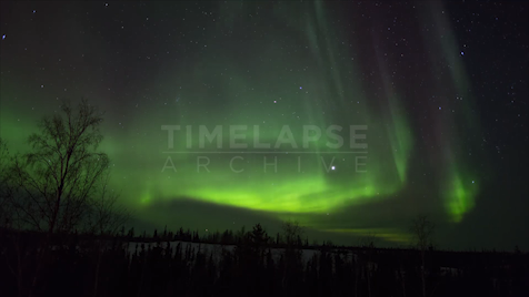 Time-lapse Northwest Territories: Aurora Bright Sky