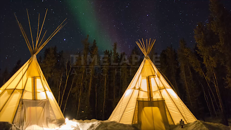 Time-lapse Northwest Territories: Aurora Tipis