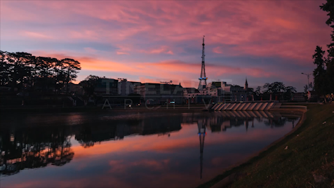 Time-lapse Da Lat: Pink Morning Sky