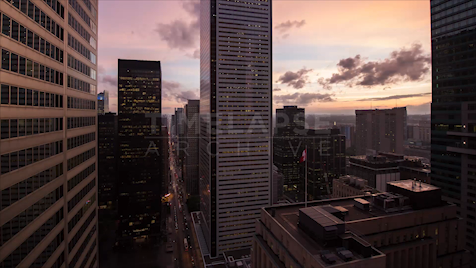 Time-lapse Toronto: Financial District Day To Night
