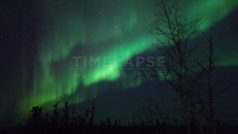 Time-lapse Northwest Territories: Aurora Flowing Sky