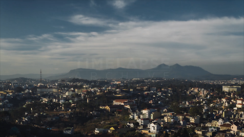 Time-lapse Da Lat: Mountain View