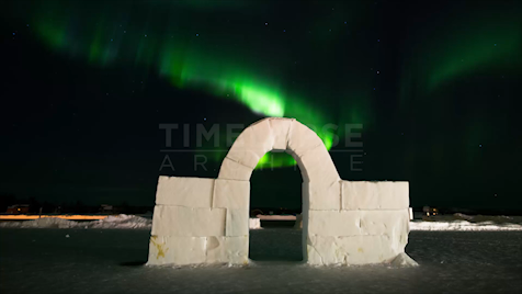 Northwest Territories: Aurora Snow Arch