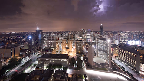 Time-lapse Toronto: City Hall Lightning Storm