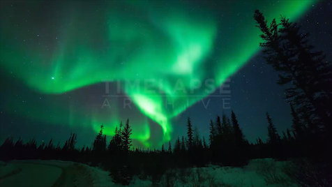 Time-lapse Northwest Territories: Aurora Roadside