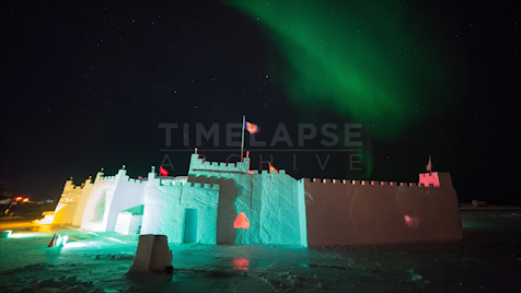 Northwest Territories: Aurora Snow Castle