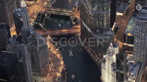 Chicago: Aerial Sunset 37