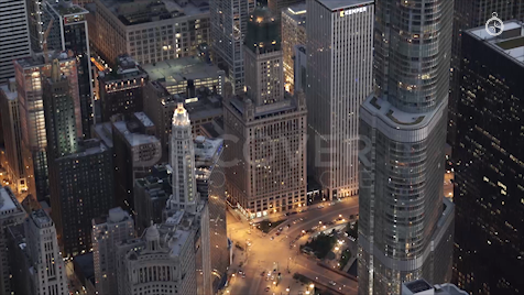 Chicago: Aerial Sunset 38