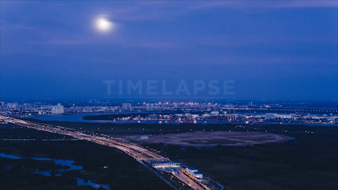 Time-lapse Ho Chi Minh City: Full Moon Rising