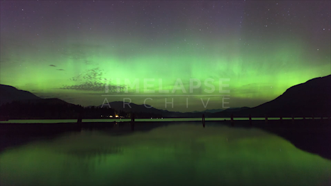 Time-lapse British Columbia: Aurora Mountains