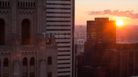 Time-lapse Toronto: Commerce Court Sunset