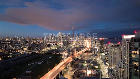 Time-lapse Toronto: West End Skyline Day To Night