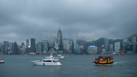 Time-lapse Hong Kong: Boats On Victoria Harbour