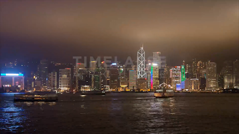 Time-lapse Hong Kong: Day To Night Skyline