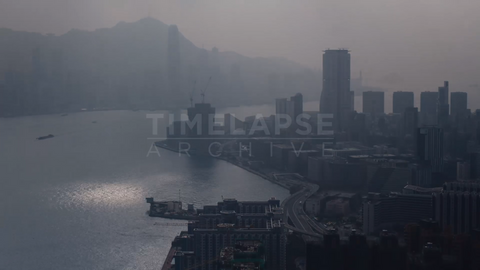 Time-lapse Hong Kong: Victoria Harbour Sunshowers
